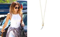 Vanessa Hudgens wearing the Sahara Pendant Necklace by Stella & Dot www.stelladot.com/kalliemgettinger