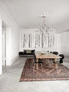 Minimalist Copenhagen Apartment For A Large Family | DigsDigs