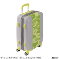 Green and Yellow Camo | Green Camouflage Luggage