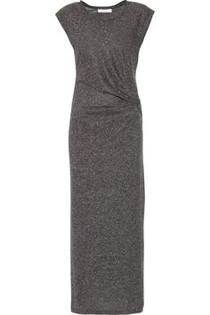 IRO Adonis Gathered Slub Jersey Midi Dress. #iro #cloth #dress