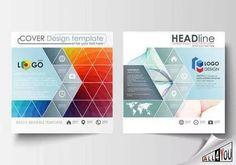 Корпоративные визитки листовки брошюры журнал плакат баннер 25 EPS #3.