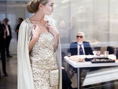 Chanel Goes Green this Spring. #LetsAllGreen http://www.vogue.com/fashion-shows/spring-2016-couture/chanel