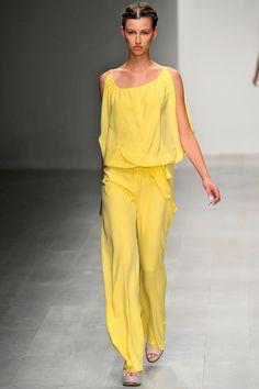 Yellow at Maria Grachvogel S/S 2013 #LFW
