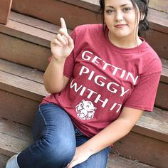 gettin' piggy with it shirt  razorback shirt by ShopTheRandomHouse