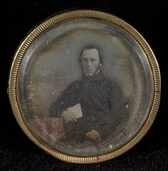 [Portrait of a Man with Chin Beard]; Unknown maker, Chilean; 1845 - 1847; Daguerreotype, hand-colored Case: Brass; 84.XT.1568.3; J. Paul Getty Museum, Los Angeles, California