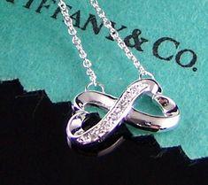 Tiffany diamond infinity heart necklace