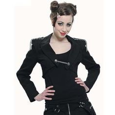 Gothic Military Bolero Jacket by Queen of Darkness.