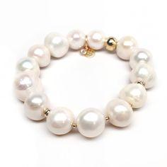 Julieta Jewelry Freshwater Pearl 'Sophia' Stretch Bracelet 14k over Sterling Silver Women's