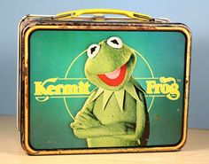 Classic metal lunch box featuring Kermit the Frog.