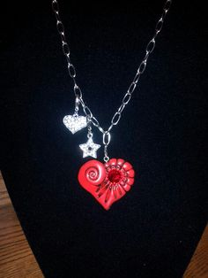 Handmade clay heart and bling ;-)
