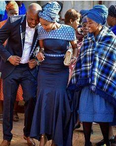 Latest Shweshwe Styles for Fashion Lovers - Reny styles African Wedding Attire, African Attire, African Wear, African Women, Xhosa Attire, African Weddings, African Print Dresses, African Print Fashion, African Fashion Dresses