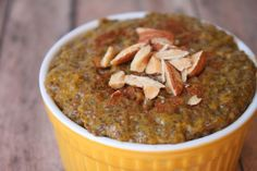 Pumpkin Chia Seed Pudding--SO good! #Paleo