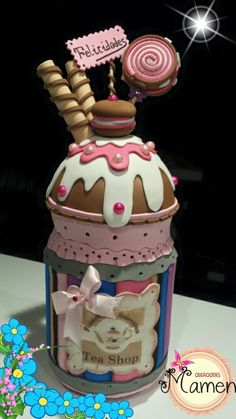 Manualidades Candy Crafts, Tape Crafts, Foam Crafts, Diy And Crafts, Happy Jar, Jar Art, Cute Clay, Polymer Clay Dolls, Cold Porcelain