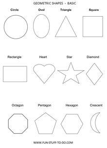Geometric Shapes Worksheets Free To Print Kids Stuff 3d Shapes Worksheets, Shape Worksheets For Preschool, Geometry Worksheets, Art Worksheets, Free Printable Worksheets, Preschool Shapes, Kid Printables, Free Preschool, Preschool Learning