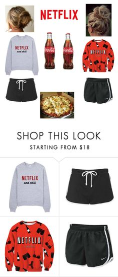 """movie night"" by tasnimkhan-258 on Polyvore featuring Topshop and NIKE"