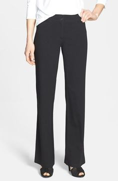 Eileen Fisher Straight Leg Milano Knit Trousers available at #Nordstrom