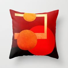 Formes 15 Throw Pillow by ganech - $20.00