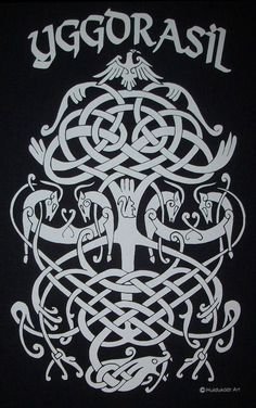 Full sized front print in your choice of shirt colors and sizes small thru 5XL. Manually printed to achieve the highest quality on premium heavyweight cotton shirts for many years of comfy wear. Yggdrasil (/ˈɪɡdrəsɪl/ or /ˈɪɡdrəzɪl/; from Old Norse Yggdrasill, pronounced [ˈyɡːˌdrasilː]) is