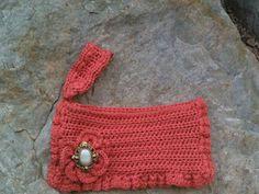 Crochet Salmon Clutch