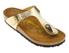 gizeh gold sandal, birkenstock