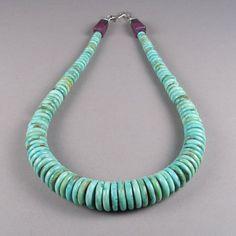 Fox Mine Turquoise Necklace, Bruce Eckhardt, Shiprock Gallery ...