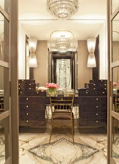 Tribeca Loft #kellywearstler #bathroom #vanity