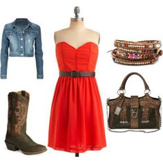 Super cute outfit but I don't wear cowgirl boots