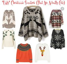 """cute """"ugly"""" Christmas sweaters"""