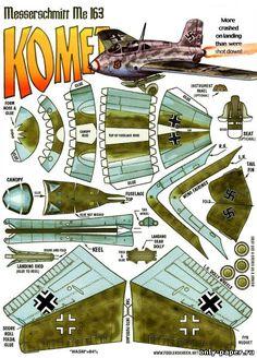 Messerschmitt Me-163 Komet (Fiddlers Green) из бумаги, модели ...