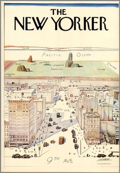 The New Yorker. Steinberg. 1976. The New Yorker Magazine, Inc. - David Rumsey…