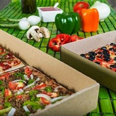 Pizzas luigui, únicas en estilo cuadradas. Pizza cuadrada