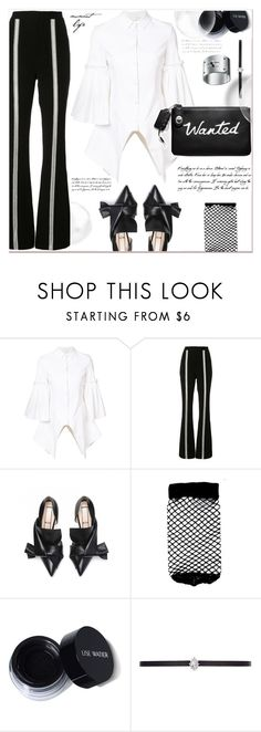 """""""Dressing in Black and White"""" by dragananovcic ❤ liked on Polyvore featuring Christian Siriano, Jonathan Simkhai, WALL, ASOS and CZ by Kenneth Jay Lane"""