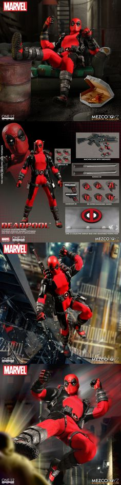Comic Book Heroes 158671: Mezco One:12 Collective Marvel Comics Deadpool 1:12 Scale Action Figure -> BUY IT NOW ONLY: $89.99 on eBay!