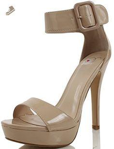 c4cebaf2aad9 Delicious Women s Zelena Open Toe Wide Strap Ankle Strap Low Platform High  Heel