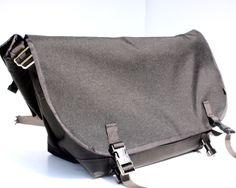 Black Bike Messenger Bag by Mer Bags