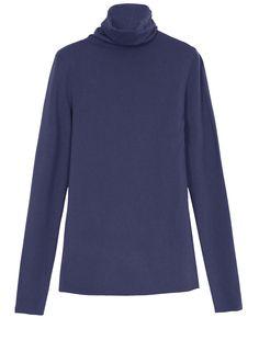 MAX&Co. - Rollkragenpullover aus Stretch-Viskose, Marineblau - Pullover aus Stretch-Viskose. Leicht tailliert. Eng geschnitten. Hüftlänge. Rollkragen. Gerader runder Armansatz. Lange Ärmel. - Versand und Warenrückgabe sind kostenfrei!