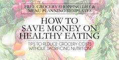 How To Save Money On Healthy Eating