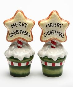 Look what I found on #zulily! Cookie 'Merry Christmas' Salt & Pepper Shaker by Sugar High Social #zulilyfinds