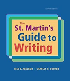 The st martins guide to writing 11th edition etextbook online the st martins guide to writing fandeluxe Choice Image