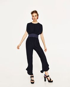 Image 1 of JUMPSUIT WITH SASH BELT from Zara
