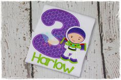 Custom Buzz Lightyear - Space Explorer - Toy Story Inspired Embroidered Applique Shirt