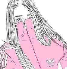 tumblr girl outline ile ilgili görsel sonucu