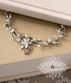 Bitter Sweet Jewellery Bridal Collection, Bracelet. #elegant #bridal #leaf #floral #delicate #wedding #gown #CZ #sparkle
