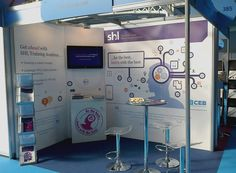 The finished SHL exhibition stand.