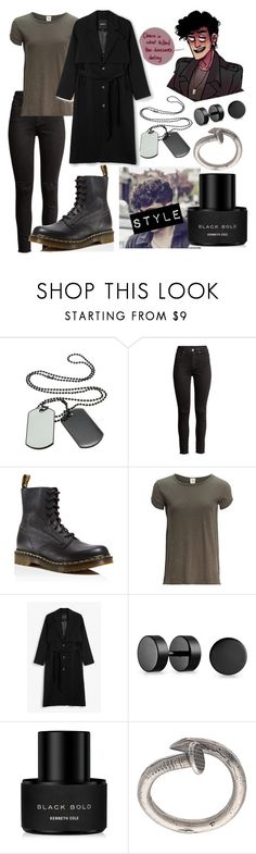 """""""Female-JD-Heather's Musical"""" by dappershadow ❤ liked on Polyvore featuring Ryder, H&M, Dr. Martens, Free People, Monki, Bling Jewelry, Kenneth Cole and M. Cohen"""