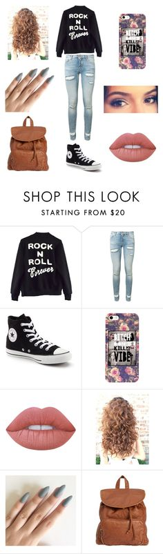 """""""School"""" by loohoo1999 ❤ liked on Polyvore featuring High Heels Suicide, Off-White, Converse, Lime Crime and Billabong"""