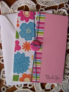 Thank You Note Greeting Card by EllieMarieDesigns on Etsy,