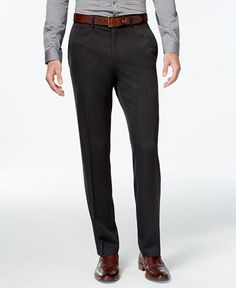 62175471 Kenneth Cole Reaction makes the basic grey pant modern with this signature  slim-fit,