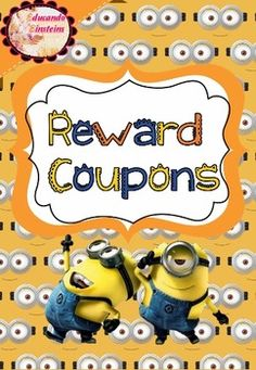 Reward Coupons are excellent clasroom behaviour tools and work out so great… Minion Classroom Ideas, Year 4 Classroom, Classroom Coupons, Classroom Decor Themes, 3rd Grade Classroom, Music Classroom, Future Classroom, Classroom Organization, Minion Room