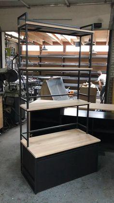 Loft Furniture, Diy Furniture Plans Wood Projects, Furniture Design, Cubicle Design, Barber Shop Decor, Small Apartment Interior, Pharmacy Design, Diy Hanging Shelves, Retail Store Design